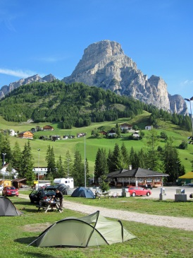 Camping Colfosco and Sassongher in the Dolomites, Italy