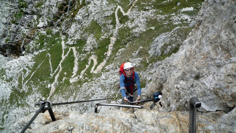 Via Ferrata Virgins – getting started at via ferrata