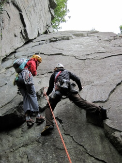 Libby and Me on the first pitch of Oberon.