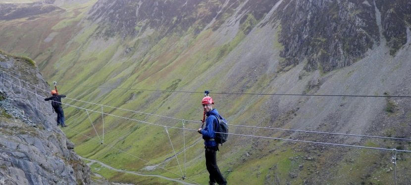 Wire in the Lakes – the Honister Slate Mine Via Ferrata