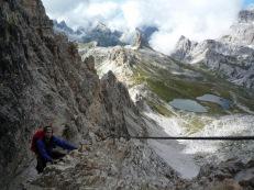 Me climbing the Sentiero de Luca / Innerkofler