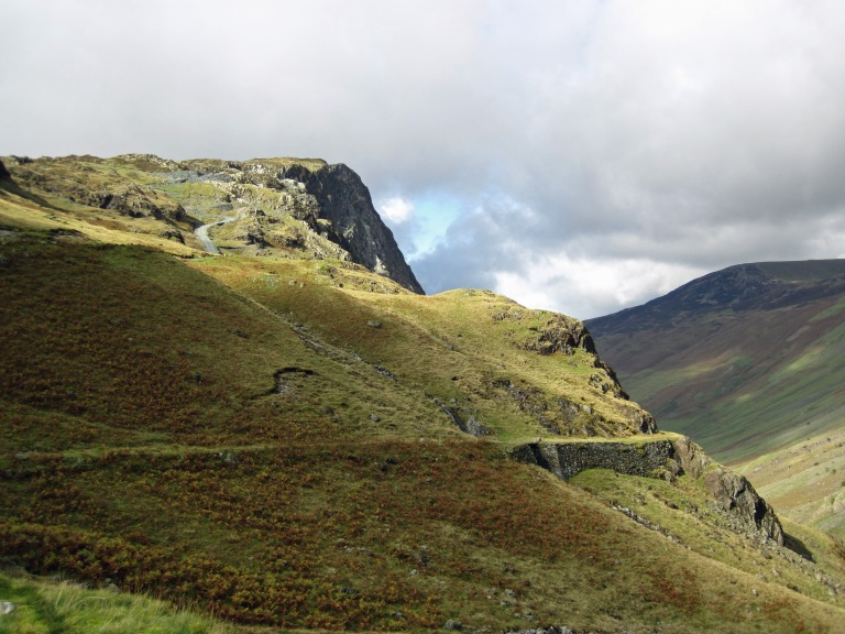 Fleetwith Pike as seen from the Honister Slate Mine.
