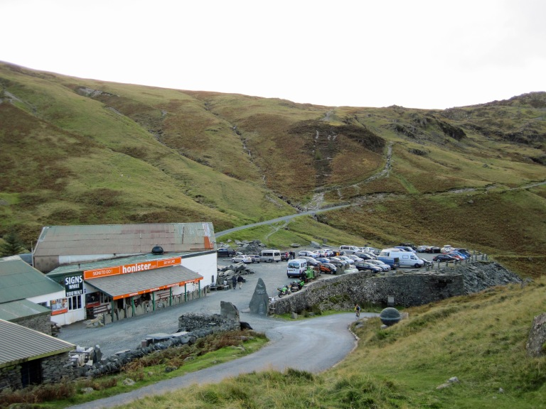 The visitor centre at Honister Slate Mine.