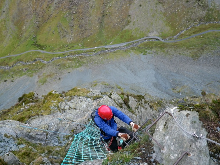 Me climbing off the top of the cargo net.