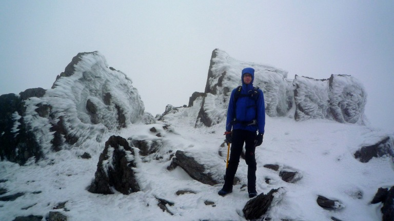 Me on the summit of Glyder Fawr.