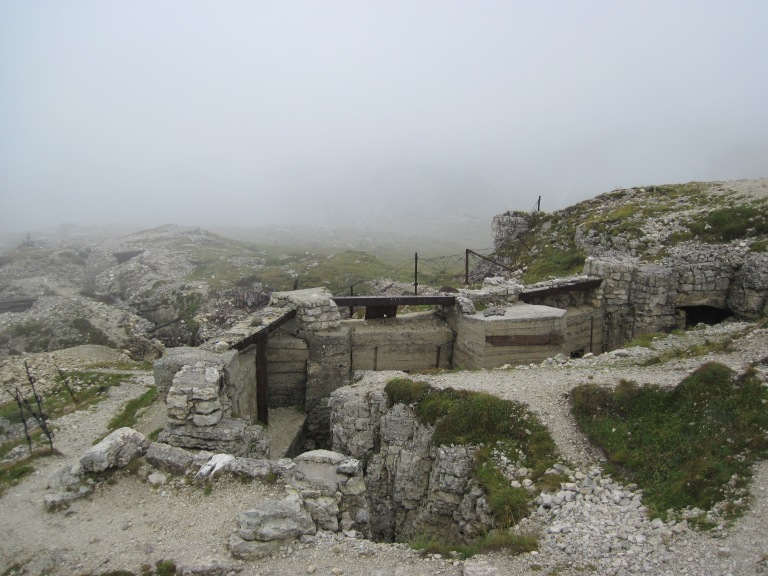 WW1 fortifications on Monte Piana.