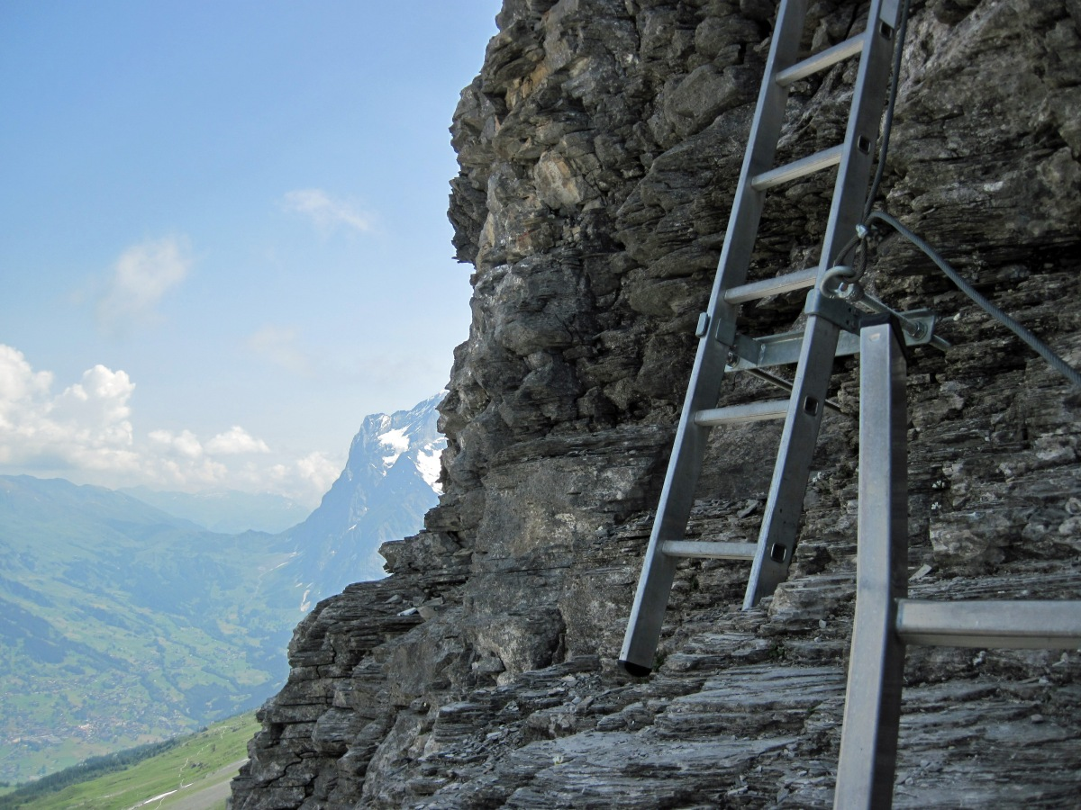 A Little Bit of the Eiger - the Rotstock Via Ferrata