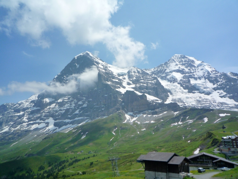 The Eiger seen from Kleine Scheidegg.