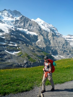 Me walking up to the Eigergletscher Station.