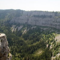Walking the rim of the Creux du Van