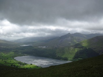 Llyn Cwellyn in Snowdonia National Park