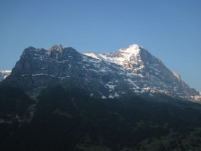 The sunrising over the Eiger.