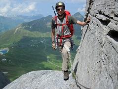 Me on the Rotstock Via Ferrata in Switzerland.