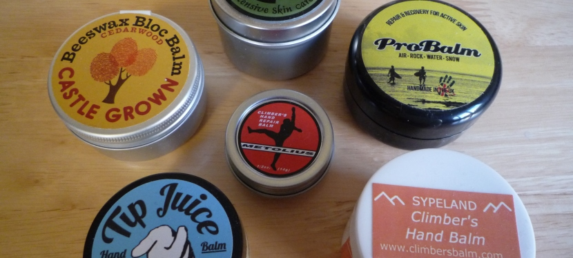 A Better Balm – review of hand balms for rockclimbers