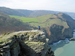 Me standing on an outcome of Castle Rock.