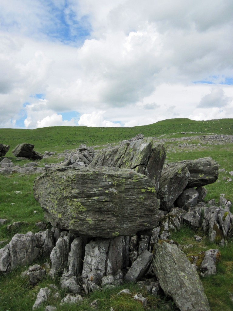 A Norber Erratic above Robin Proctor's Scar in the Yorkshire Dales.