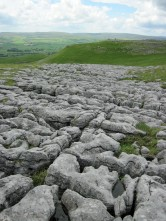 Limestone pavement above Thwaite Scars near Clapham in the Yorkshire Dales.
