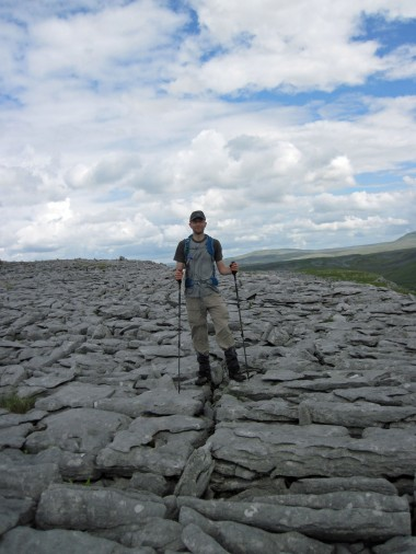 Me standing on limestone pavement.