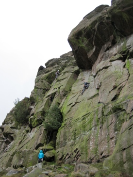 Climbers on the Upper Tier at The Roaches.