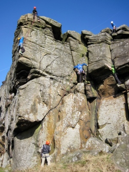 Climbers at Froggatt Edge
