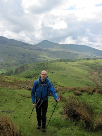 Me walking up Mynydd Mawr in Snowdonia.