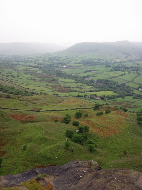 The view across the Vale of Edale to Kinder.