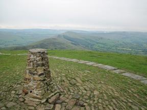 The summit of Mam Tor.