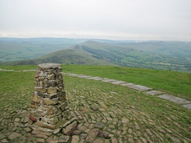 The summit of Mam Tor.