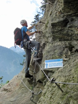 Me on the Klettersteig Huterlaner.