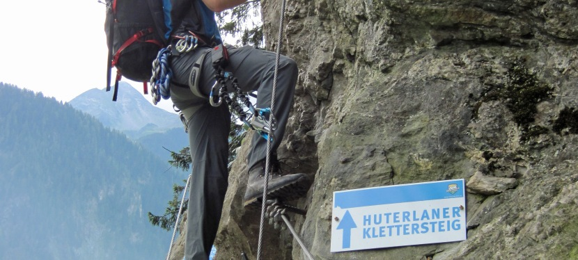 A Climb in the Woods on the Klettersteig Huterlaner