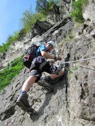 Me on the Klettersteig Pfeilspitzwand.