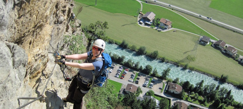 Climbing a Cathedral and Ringing the Bell on the KlettersteigPfeilspitzwand