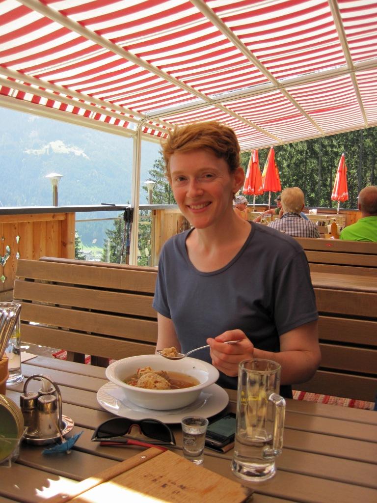 Valerie at the Gasthaus Zimmereben.