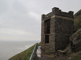 The old coast guard lookout at Hurlstone Point on Bossington Hill.