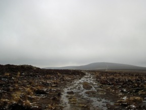 Little Rowbarrow (on the left) with Dunkery Beacon in the distance.
