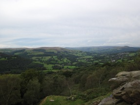 A view of Hathersage from Lawrencefield, where I did the first day of the self-rescue course.