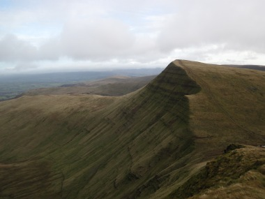 Then up again on to Cribyn, which is where I got this view of Fan y Big. Frustratingly, something had gone a bit wrong with my knee and I was in a lot of pain and so I decided not to walk up Fan y Big that day and head back to the car.