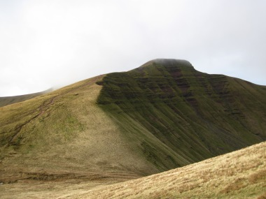 After climbing Corn Du, it was up and then down Pen y Fan.