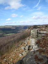 Curbar Edge in the Peak District.