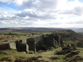 The Little Quarry at Curbar Edge.