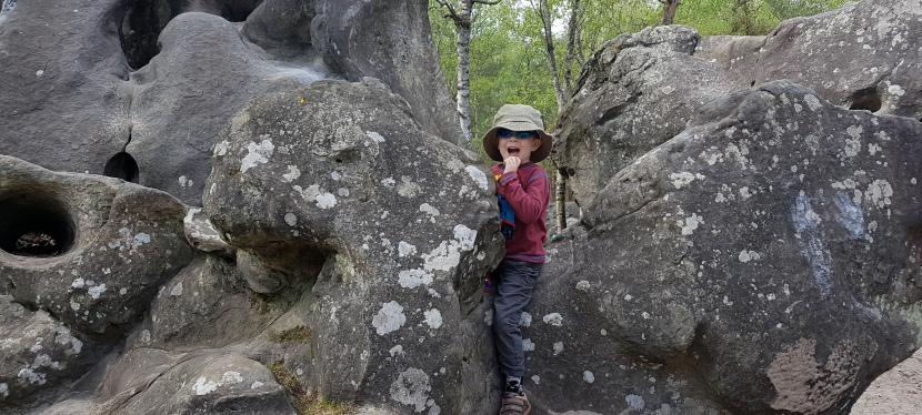 Bouldering in Fontainebleau with aToddler