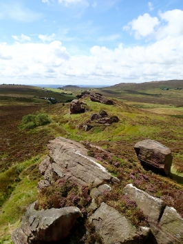 Newstones crag in Staffordshire.