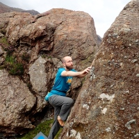Trying out the new North Wales Bouldering guidebook
