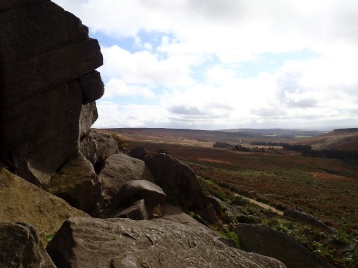 Looking down the Burbage valley from Burbage North.