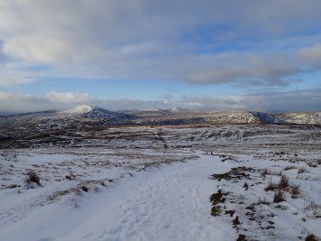 The views and the snow got better and better as I walked up Corn Du from the Storey Arms car park. This is a view of Fan Fawr and (in the distance) The Black Mountain.