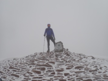 Me on the summit of an icy Pen y Fan in the Brecon Beacons.