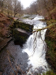 Sgwd Clun-Gwyn in the Waterfall Country of the Brecon Beacons.