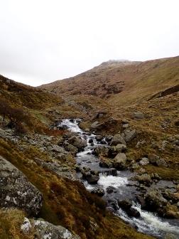 The Afon Goch at the start of the walk-in to Cwm yr Afon Goch.