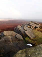 Back Tor and the moors.