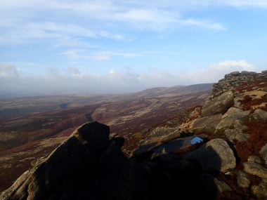 Derwent Edge, with Lost Lad and Greystones Moss (where I'd come from that day) in the distance.